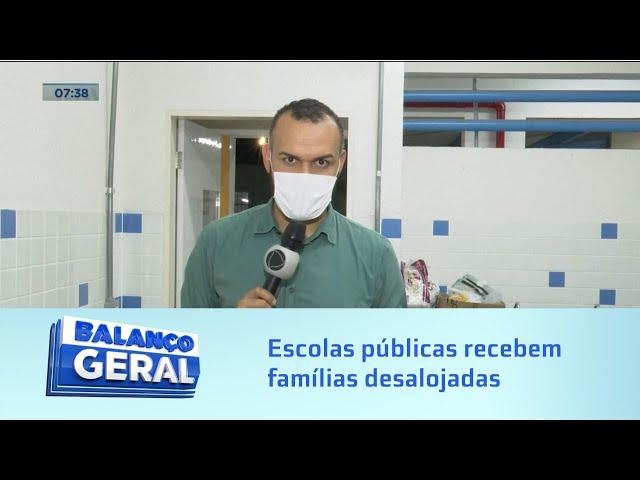 Em Maceió: Quatro escolas públicas foram direcionadas para receber famílias desalojadas