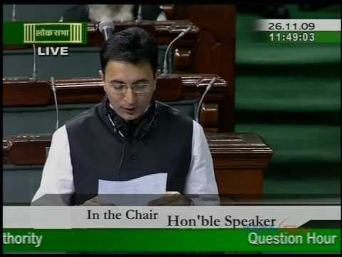 JITIN PRASAD in Parliament Session - Brijesh Dwivedi