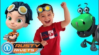 Rusty Rivets on Rescue Mission with Customize Botasaur