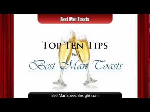 Best Man Toasts - 10 Important Tips For Your Best Man Toast