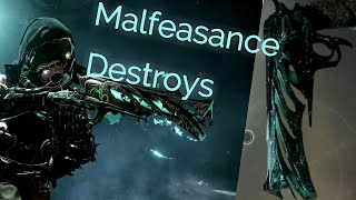 Destiny 2 Forsaken Malfeasance Crucible gameplay with Aim to misbehave Ornament and The Long Walk