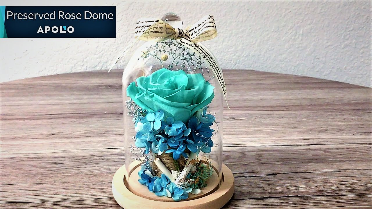 Preserved Rose In Gl Dome Handcrafted Fl Creation