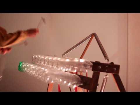 Bambarimba, Plastic Bottle Xylophone,  DIY Pet Marimba, Recycled Instrument