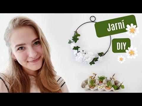 DIY jarní dekorace | kytičky | svíčky | mini zahrádka...