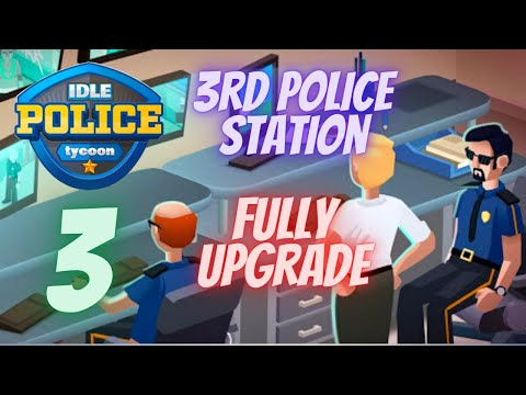 Idle Police Tycoon Gameplay - 1 Trillion$ - Full Upgraded Police Station (PALM SHORES) |