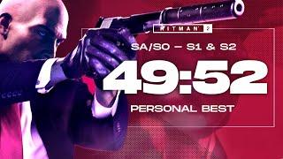 Hitman S1&2 MASTER Speedrun in 49:52 - Silent Assassin, Suit Only, Default Loadout