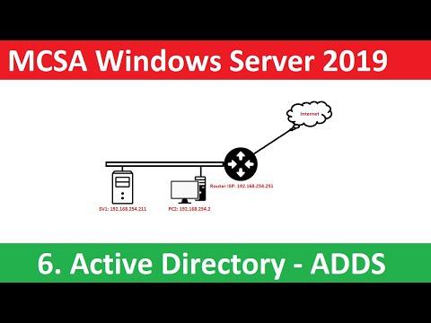 6. Active directory domain services, domain controller Windows Server 2019