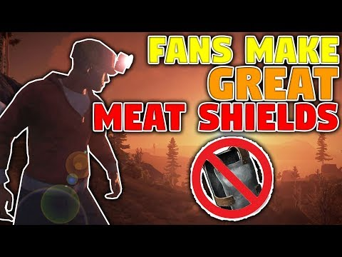 Fans Make Great Meat Shields | Rust Trio Survival S11E02