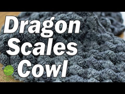 How to C2C this textured Dragon Scales Cowl