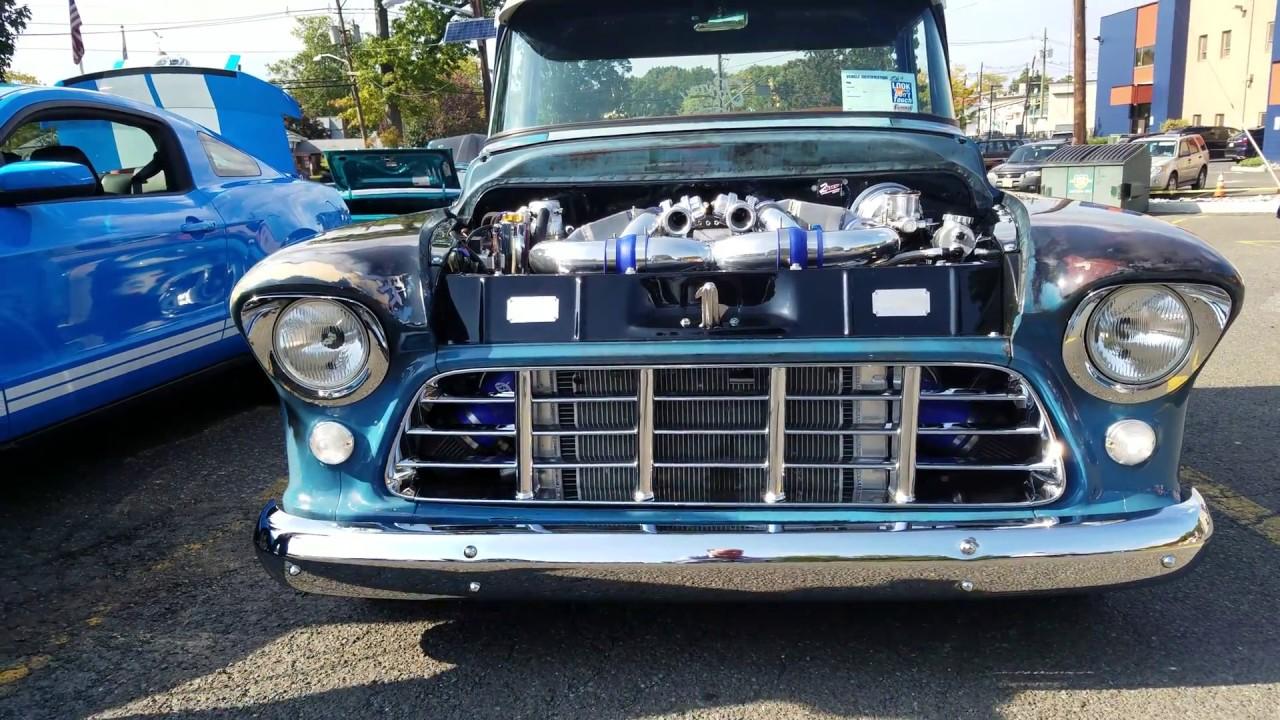 Truck chevy 1955 truck 1955 CUSTOM CHEVY 3100 PICK-UP TRUCK LS2 TWIN TURBO 1200 HP - YouTube