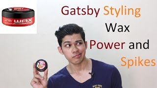 Gatsby Styling Wax Power and Spikes Hair Style Review