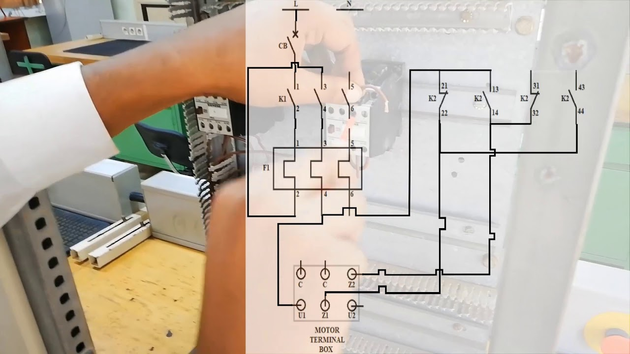 Part1 Power Circuit  Forward Reverse Wiring Circuit For