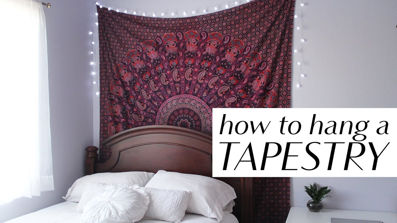 How To Hang A Tapestry In 3 Easy Ways Youtube