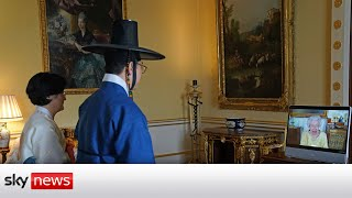 Queen resumes virtual duties after hospital stay