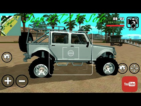 Gta Sa Android Jeep Gta V Solo Dff Only Youtube
