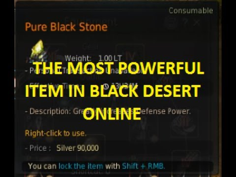 Most Powerful Item in BDO? | Pure Black Stone (DP) Test