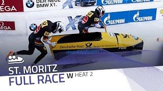 St. Moritz | BMW IBSF World Cup 2016/2017 - Women's Bobsleigh Heat 2 | IBSF Official