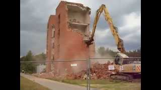 2015 Висагинас. Разрушение и снос здания