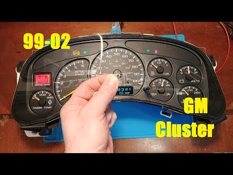 99-02 GM Cluster Repair unusual fault