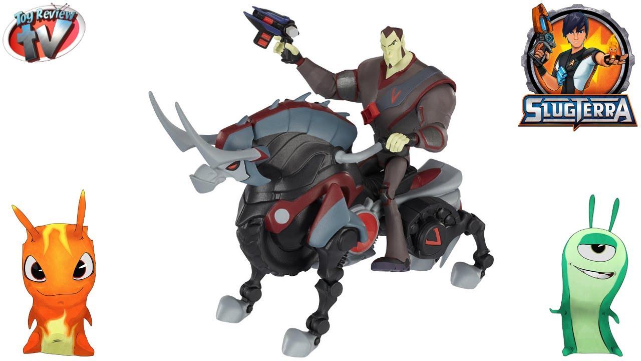 slugterra dr blaak thundarr mecha beast figure set toy review