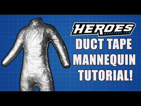 Duct Tape Mannequin Tutorial from YouTube · Duration:  9 minutes 27 seconds