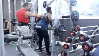 Back day with Bodybuilding champ Tufan Cifci and Tebby Iguisi