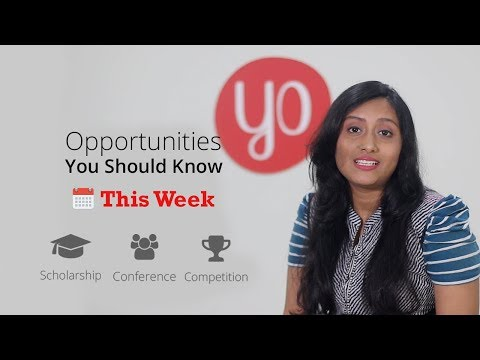 Scholarship & Competition you should know this week | Youth Opportunities