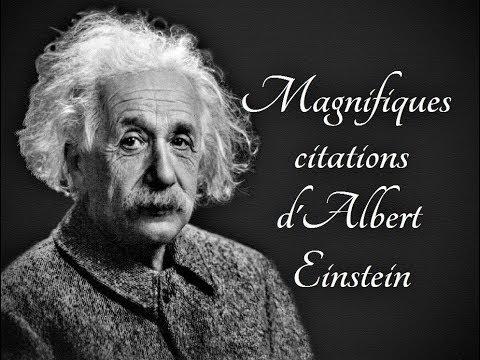 Magnifiques citations d'Albert Einstein
