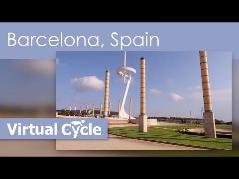 Barcelona, Spain – HD Virtual Tourist Guide & Treadmill Scenery Workout Video