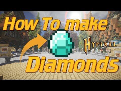 How to Make Diamond | Hypixel Build Battles Minecraft PvP | Diamonds and Pianos