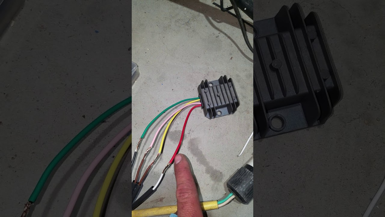 how to wire a 4 wire voltage regulator rectifier  youtube