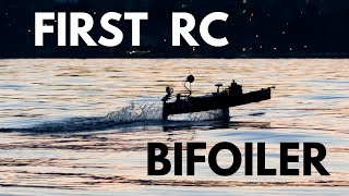 The story behind the first rc bifoiler motorboat in history - EPFL - Hydrocontest 2016