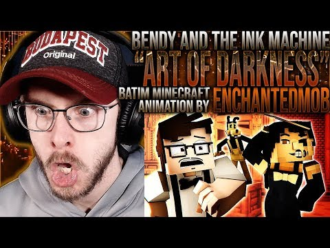 "Vapor Reacts #1057 | BENDY SONG MINECRAFT ANIMATION ""Art Of Darkness"" By EnchantedMob REACTION!!"