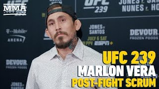 UFC 239: Marlon Vera Talks About How Opponent Changes Put Him On Mental Rollercoaster - MMA Fighting