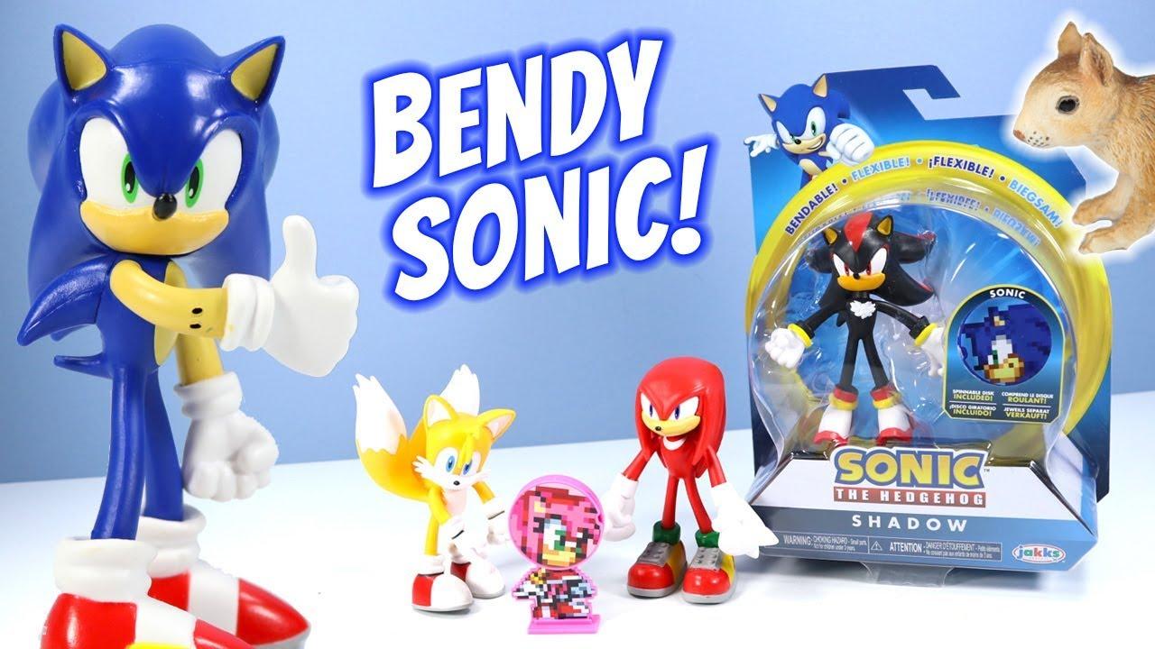 "Sonic The Hedgehog Collectible Sonic 4/"" Bendable Flexible Action Figure new"