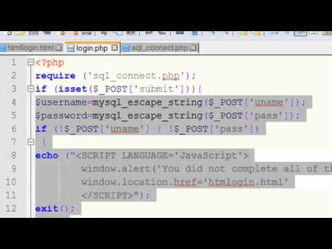Php mysql login tutorial check if username exists youtube.