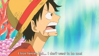 Luffy's Definition Of Hero, Fishman Island Arc - One Piece Funny Moments