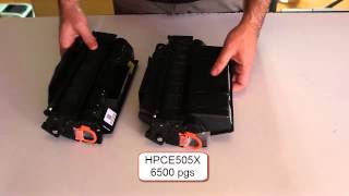 DIFFERENCE BETWEEN HP Toner Cartridge CE505A AND HP Toner Cartridge CE505X