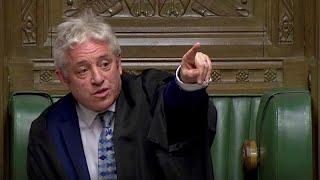 Bercow impide a May presentar el mismo plan de Brexit