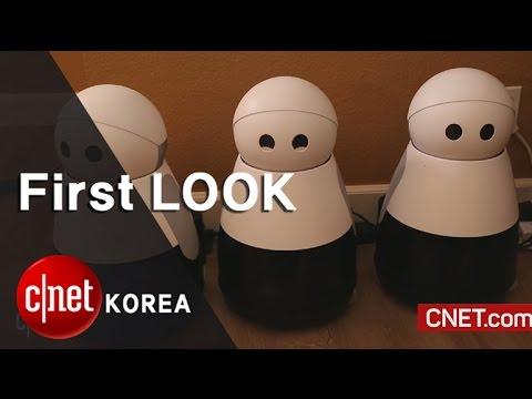 """가정 경비 기능 갖춘 귀여운 로봇 쿠리 """"침입자가 나타났어요"""" , Kuri_an adorable wandering security cam"""