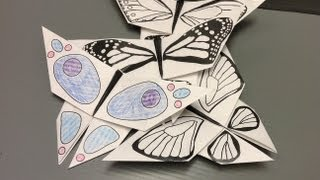 Daily Origami: New Free Printables - Color Your Own Butterfly