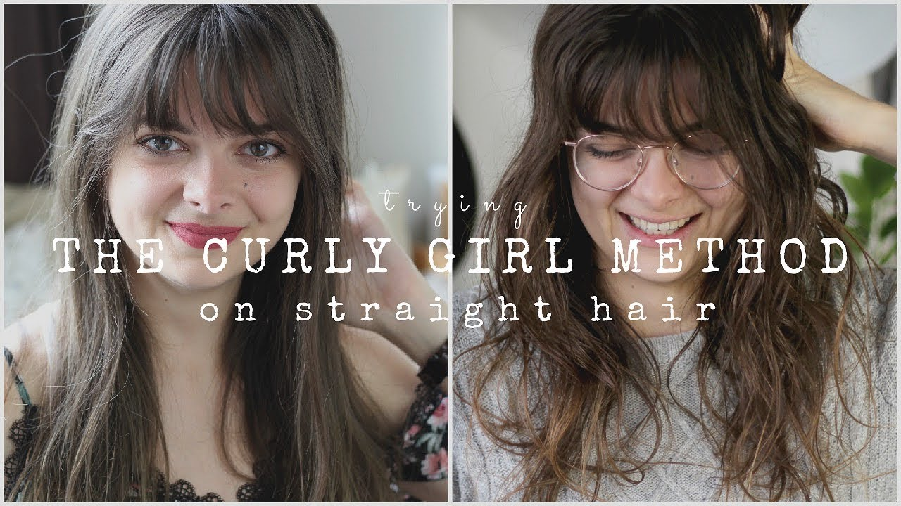 Trying The Curly Girl Method On Straight Hair Youtube