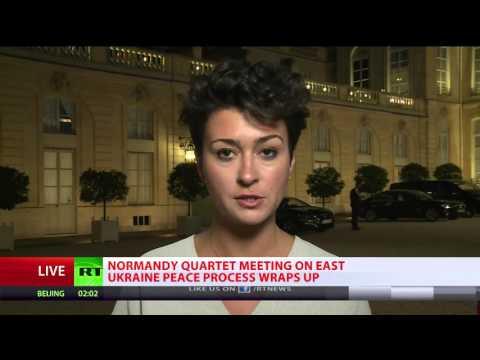 'Normandy 4': Meeting on Ukraine peace progress wraps up