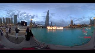 Dubai Mall Fountains on Michael Jackson's Thriller  | 360 4K VR