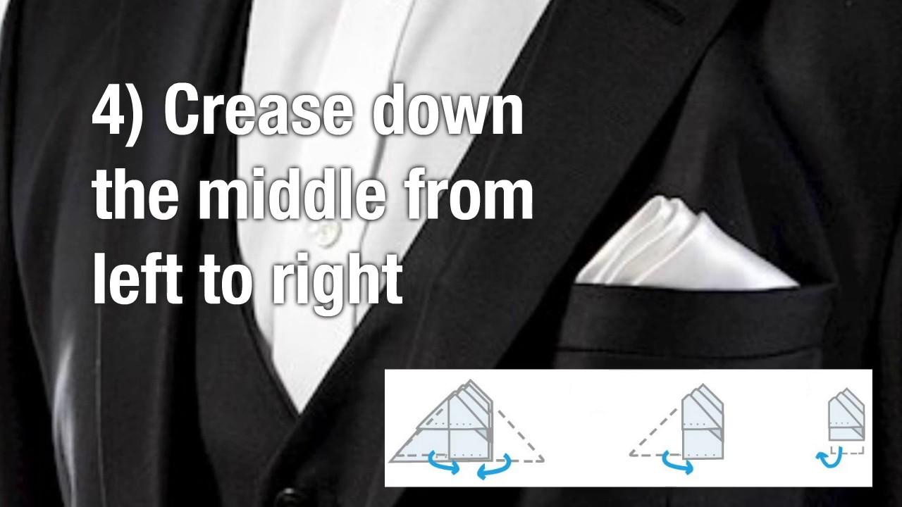 How To Fold A Pocket Square Like James Bond Youtube