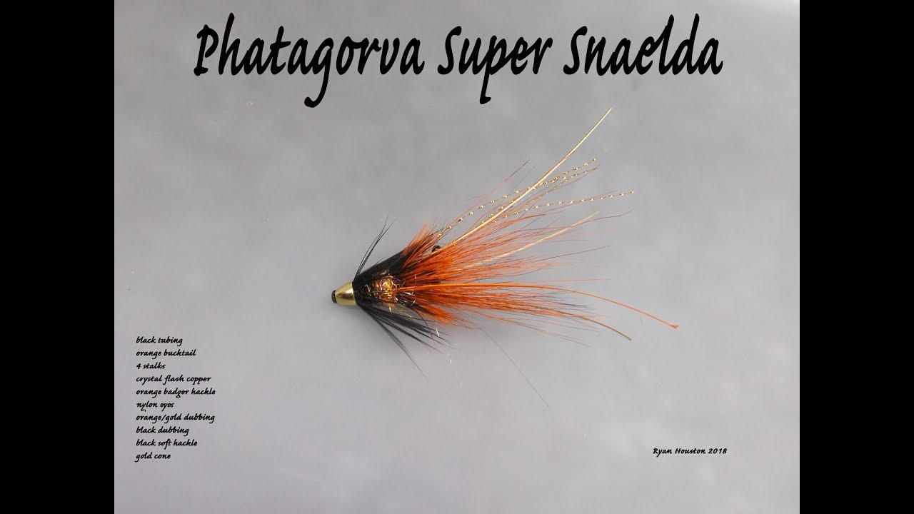 3 x snaelda salmon fly black and red