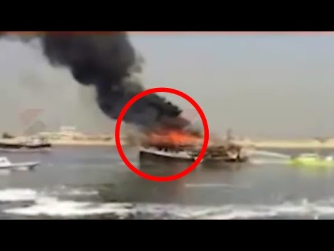 SHOCKING! Ship From Gujarat Catches Fire in Dubai Port