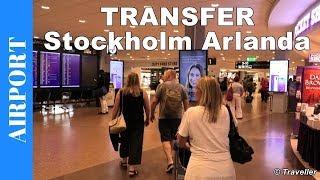 Flight Transfer at Stockholm Arlanda Airport - Walking inside Stockholm Airport