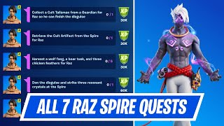 All Spire Quests for Raz in Fortnite - Raz Spire Quest Challenges Guide Chapter 2 Season 6