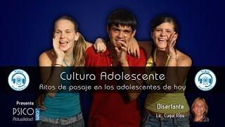 Videoconferencia: Cultura adolescente. Ritos de pasaje en los adolescentes de hoy
